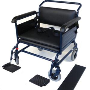 Toilettenrollstuhl TRS 210 kg -Sitzbreite 65, Sitzhöhe 40 cm