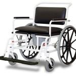 XXL Duschtoilettenrollstuhl 210 kg, Sitzbreite 60, Selbstfahrer